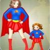 Одевалка: Супер Мама и Малышка (Super Mom and Kid Dress Up)