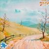 Пазл: Осенняя дорога (Autumnal Road Jigsaw Puzzle)