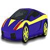 Раскраска авто (Blue lined car coloring)