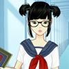 Одевалка: Мега школа (Mega School girl dress up game)