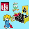 Раскраска: Спальная комната Лилу (Lily in the bedroom coloring)