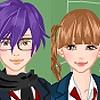 Одевалка: Школьный стиль (Cute school couple dress up game)