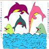 Раскраска: Дельфины (Dolphin Coloring)
