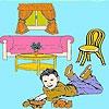 Раскраска: Гостиная комната (Living room coloring)