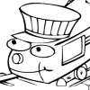 Раскраска: Паровозик 2 (Train Coloring book 2)
