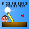 Важный и бодрый: Дополнительные уровни (Sticky And Bouncy Players Pack)