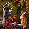 Пятнашки: Котёнок (Cat and Friends slide puzzle)