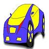 Раскраска автомобиля (Perfect blue car coloring)