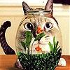 Передвижной пазл: Голодный кот (Hungry cat slide puzzle)