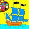 Супер раскраска: Корабль (Boat Super Coloring)