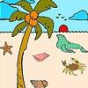 Раскраска: Пляж (Seal in the beach coloring)