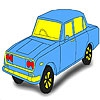 Раскраска: Какого цвета авто? (Green classic car coloring)