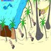 Раскраска: Пляж (Vacation Coloring)