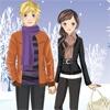 Одевалка: Зимняя романтика (Winter Romance Dress Up)