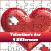 Поиск отличий: День Св.Валентина (Valentine's day 5 Difference)