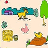 Раскраска: Ферма (Mole in the farm coloring)