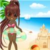 Одевалка: Пляжный наряд (Beautiful girl on the beach)
