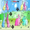 Раскраска: Кролики (Rabbit Coloring)