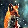 Пятнашки: Лисица (Alone wild wolf slide puzzle)