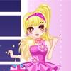 Одевалка: Розовая вечеринка (Pink Party Dress Up)