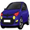 Раскраска: Городской авто (Midi dark blue car coloring)