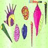 Раскраска: Ракушки (Sea Shell Coloring)