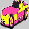 Раскраска: Машина (Fabulous pink car coloring)