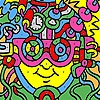 Раскраска: Краски лица (Interesting face coloring)