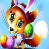 Передвижной пазл: Веселая лиса (Fox Bunny Sliding Puzzle)