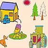 Раскраска: Утиная ферма (Duck in the farm coloring)