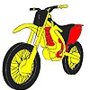 Раскраска: Мотоцикл 2 (Faster red motorbike coloring)