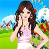 Одевалка: Цвета гвоздики (Blossom Pinks Dress Up)