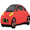 Раскраска: Мини-авто (Mini light green car coloring)