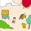 Раскраска: Ежик в деревне (Hedgehog in the village coloring)