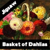 Пазл: Корзина с георгинами (Basket of Dahlias Jigsaw)