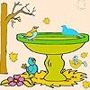 Раскраска: Птицы в парке (Birds in the park coloring)