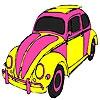 Раскраска: Автомобиль (Pink turtle car coloring)