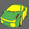 Раскраска: Авто (Fast green car coloring)