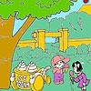 Раскраска: Девочка и мороженое (Little girl and iceman coloring)