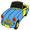 Раскраска: Спорткар 2 (Old speedy car coloring)