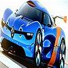 Пятнашки: Синий спорткар (Blue racing car slide puzzle)