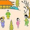 Раскраска: Японский сад (Japanese garden coloring)