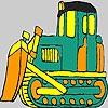 Раскраска: Трактор (Green tractor coloring)