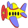 Раскраска: Маленький самолет (Little airplane coloring)