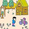 Раскраска: Яблочный сад (Apple orchard coloring)