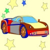 Раскраска: Супер-кар (Kid's coloring: Super car)
