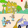 Раскраска: Стройка (Construction workers coloring)