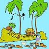 Раскраска: Пастух на пляже (Shepherd on the beach coloring)