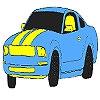 Раскраска: Великолепный авто (Magnificent blue car coloring)