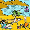 Раскраска: Дженни (Jenny sunbathing coloring)